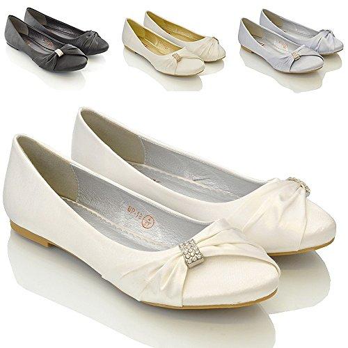 Bild von ESSEX GLAM , Damen Ballerinas Weiß weiß