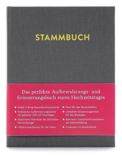 GLÜCK & SEGEN ALLES MIT LIEBE Modernes Stammbuch der Familie A5, Familienstammbuch Paul (Platingrau)