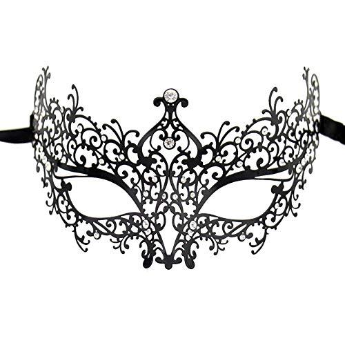 SKY TEARS Metall Venezianischen Maskerade-Maske für Frauen mit Kristallen ()