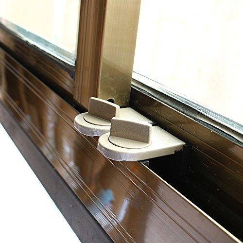 Kesote 2 Stück Kinder Sicherheitsschloss Schiebetür Schiebefenster Stopper, Grau