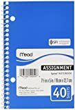 Mead MEA50050 Assignment Book-Spiralalbum-2 PS-7-.50in.x5in -. Sheets 40-Assorted