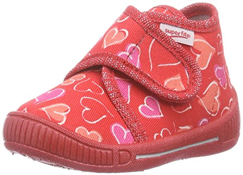 Superfit Bully, Chaussons hauts, non doublés fille Rouge - Rot (FIRE KOMBI 71)