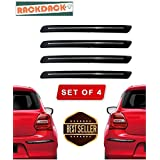 RACKDACK® Rubber Car Bumper Protector Guard with Chrome Strip for Car 4Pcs - Maruti Sx4