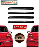 #2: RACKDACK® Rubber Car Bumper Protector Guard with Chrome Strip for Car 4Pcs - Maruti Swift Dzire New