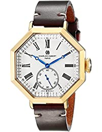 Charles-Hubert, Paris Men's 3962-G Premium Collection Analog Display Japanese Quartz Brown Watch