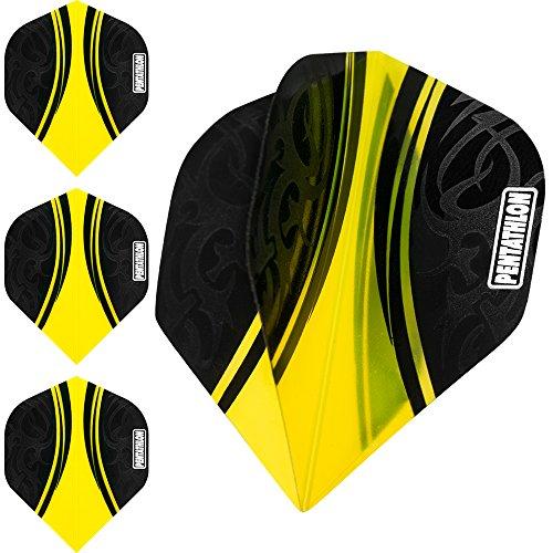 pentathlon-couleur-plus-flechettes-vols-centre-couleurs-jaune-10-sets-30
