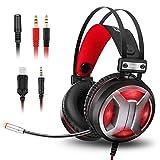 ELEGIANT Gaming Headset, Casque Gaming N3 USB LED Lumière 3.5mm Audio Stéréo pour...