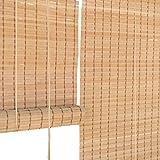 Estores enrollables Persianas enrollables 110 cm / 120 cm de Ancho - Jardín/Patio/Galería/Balcón Sombrilla, Bambú (Tamaño : 120×120cm)