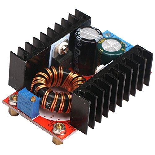 Presupuesto:Material: metal.Color: demuestre como fotos.Tamaño: 65 * 47 * 23.5mm.Voltaje de entrada: DC 10-32 V.Voltaje de salida: DC 35-60 V (ajustable).Corriente de entrada máxima: 16 A (superior a 10A necesitan refrigeración).Corriente de salida m...