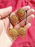 #8: Mangalsutra & Earring artificial fancy jewellery mangalsutra & Earring set in gold plated color