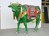 Glücks Kuh Groß Casino mit Bodenbefestigung (Metalllaschen) lebensgroß 164cm für draußen aus Hochwertiger Glasfaserkunststoff (GFK)
