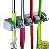 #10: INOVERA (LABEL) Wall Mounted Stick Handle Mop and Broom Holder (Grey)