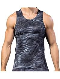 OHQ Camisa De Polo Ropa Tridimensional Masculina De La Aptitud De La ImpresióN 3D Hombre Gimnasio Deportes Gimnasio Correr…