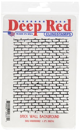 "Preisvergleich Produktbild Deep Red Cling Stamp 3""X4""-Brick Wall Background"