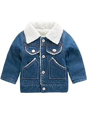 [Sponsorizzato]Yuncai Bambini Giacca di Jeans Spessi Caldo Bambine Ragazze Ragazzi Cappotto Inverno