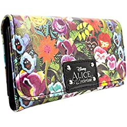 Cartera de Disney Alice In Wonderland Floral Verde