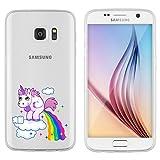 Custodia licaso per Samsung galassia S6 12,7 cm/S7 12,7 cm e funzione Samsung S6 A forma di unicorno Cover Custodia Sketch trassparente galaxys6 Custodia in silicone a forma di unicorno Unicorn Samsung Galaxy S7 Einhorn Wolke