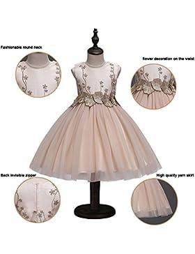 Vestidos de flores de niña, flores bordadas hermosas vestidos de fiesta de baile de princesa boda, vestido de...