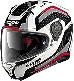 Nolan N87 Arkad N-Com Helm M (58) Weiß/Grau/Rot