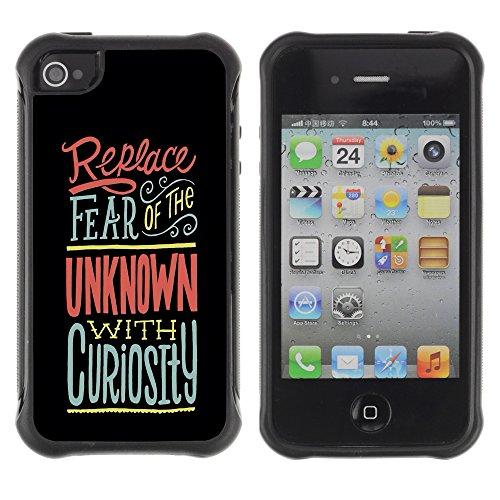 """Graphic4You """"Expect Nothing..."""" Life Proverb Zitat Design Harte Hülle Case Tasche Schutzhülle für Apple iPhone 4 und 4S Design #3"""
