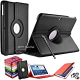 ENTITY®: Samsung Galaxy Tab 3 10.1 inch (GT-P5200/ P5210/ P5220) High Quality PU Leather 360 Degree Rotation Smart Swivel Function, Flip Stand Safety Case Cover. Executive Multi Function Stand Case with Built-in Magnet for Sleep / Wakeup Feature For the New Samsung Galaxy Tab 3 10.1 inch Tablet + Free Screen Protector + Free Stylus Pen (Available in Multiple Colours) - * FREE SHIPMENT IN THE UK * (BLACK)