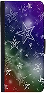 Snoogg White Stars 2378 Designer Protective Flip Case Cover For Moto-E