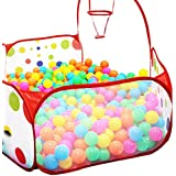 Oyedens Pop-hexágono del lunar de los niños jugar a la pelota piscina Carpa Llevar un totalizador del juguete