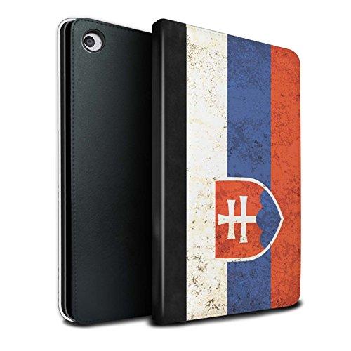 Stuff4® PU-Leder Hülle/Case/Brieftasche für Apple iPad Mini 4 Tablet/Slowakei/Slowakisch Muster/Flagge Kollektion