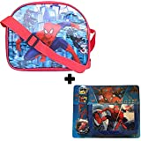 GRAPPLE DEALS New Cartoon Design Kids Sling Bag With Beautiful Watch, Wallet Complete Set For Kids Boys (Combo For Boys)