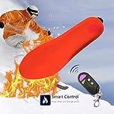 Mignon84Cook Solette elettriche Unisex Intelligenti riscaldate, sottopiedi di Riscaldamento di Temperatura di Telecomando Ricaricabile Piede Warme per Gli Sport di ooor