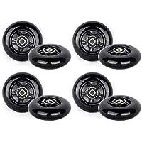 Ruedas de Repuesto PU 80mm 8 Inliner Skate Waveboard Negro ABEC 9 rodamientos