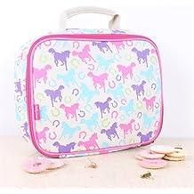 Milly Green Playful Ponies rosa blu per il pranzo