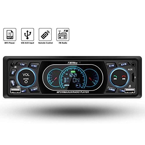 Favoto Autoradio Bluetooth Radio de Coche 1 DIN Manos Libres FM Estéreo...