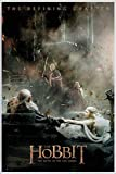 Close Up The Hobbit Poster Die Schlacht der fünf Heere Aftermath (93x62 cm) gerahmt in: Rahmen Weiss