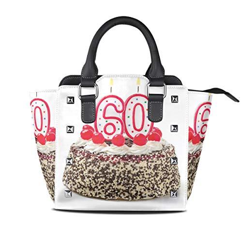 HANILUC Removibile moda tendenza Ms. Borsetta Borsa a tracolla,Stampa di candele colorate per tort