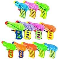 OMZGXGOD 12 Pack Pistolas de Agua Plástico para Niños, Actividad al Aire Libre Mini Juguetes Water Blaster para Niños (Color al Azar)