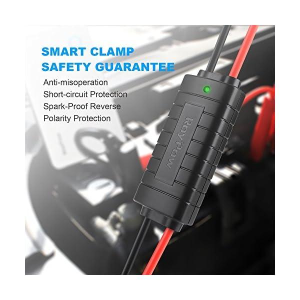 Cargador de batería de 6000 mAh 300A y multifunción para arrancar el coche, cargador para encendido automático, teléfonos móviles y dispositivos electrónicos de puerto USB, de color negro mate, de la marca RoyPow