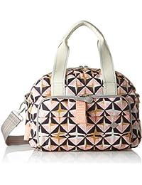 Oilily Ruffles Geometrical Handbag Mhz 1, Bolso Mujer, Rosa (Rose), 15x22x32 cm (B x H T)