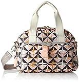 Oilily Damen Ruffles Geometrical Handbag MHz 1 Henkeltasche, Pink (Rose), 15x22x32 cm