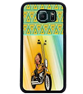 PrintDhaba Funny Image D-3757 Back Case Cover for SAMSUNG GALAXY S6 EDGE (Multi-Coloured)