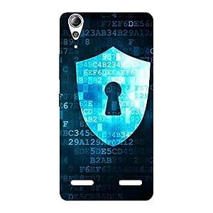 Enticing Digital Secure Print Blue Back Case Cover for Lenovo A6000