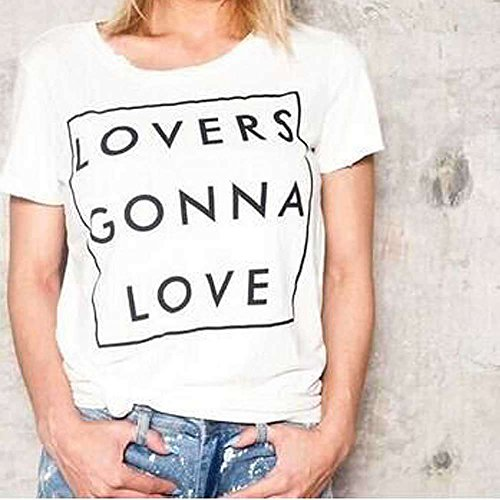 Etosell Femmes Decontractee Ananas Imprime Lache Manches Courtes T-Shirt A3