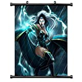 WUKE X-Men Storm Comic Tissu Poster Mural 16 inch x 18 inch with Wall Scroll a