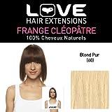 Love Hair Extensions 100% Echthaar-Cleopatra-Pony Farbe 60 - klares Blond, 1er Pack (1 x 1 Stück)