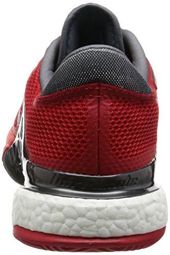 adidas Barricade 2017 Boost, Chaussures de Tennis Homme Rouge (Scarlet/night Metallic/core Black)
