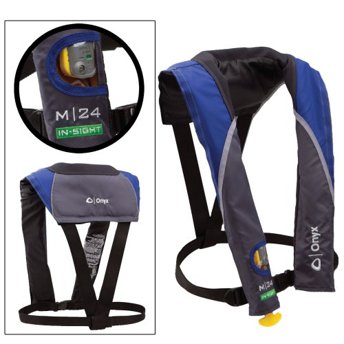 ONYX M 24 IN-SIGHT MANUAL INFLATABLE LIFE JACKET BLUE Test