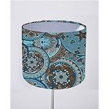 Lampenschirm Handgemacht 20 cm Durchmesser aus Stoff // Mandalas Türkis