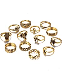Shining Diva Fashion Jewellery Set Of 13 Midi Finger Stylish Rings For Women & Girls