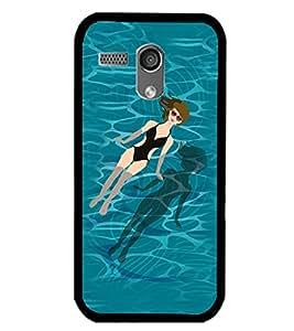 Printvisa Relaxing Girl In A Pool Back Case Cover for Motorola Moto G X1032::Motorola Moto G (1st Gen)