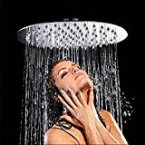 Duschkopf Regendusche Edelstahl 10 Zoll Rund Duschkopf mit Anti-Kalk-Dusen Kopfbrause Drehbar 1/2 Zoll Regenduschkopf Spiegeleffekt Hochglänzend - 5 Jahre Zufriedenheitsgarantie